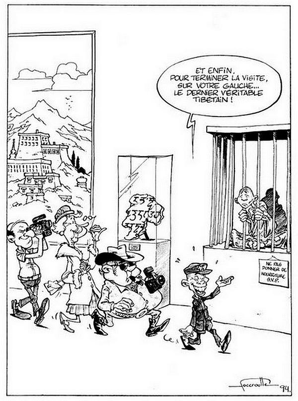 Caricature Tibet