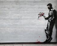 L'homme au bouquet de fleurs