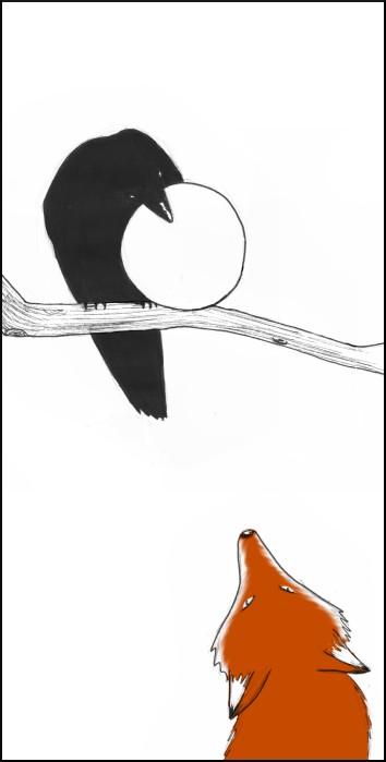 dessin_corbeau_renard