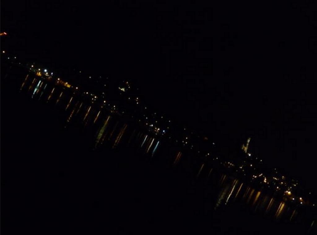 Nuit d'hiver sur l'avenue d'Albigny