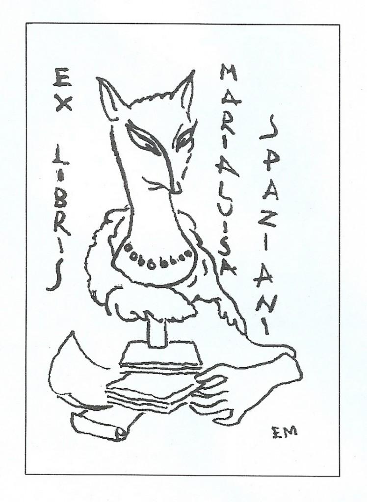 ex-libris de Maria Luisa Spaziani