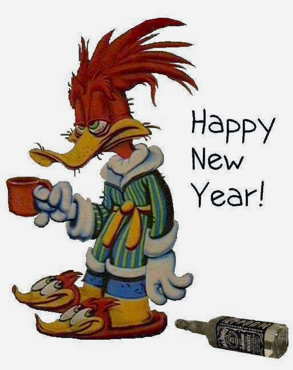 1er janvier 2008 - happy new year - Woody Woodpecker
