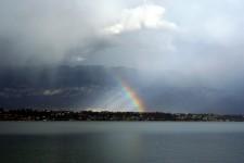 le lac du Bourget - arc-en-ciel