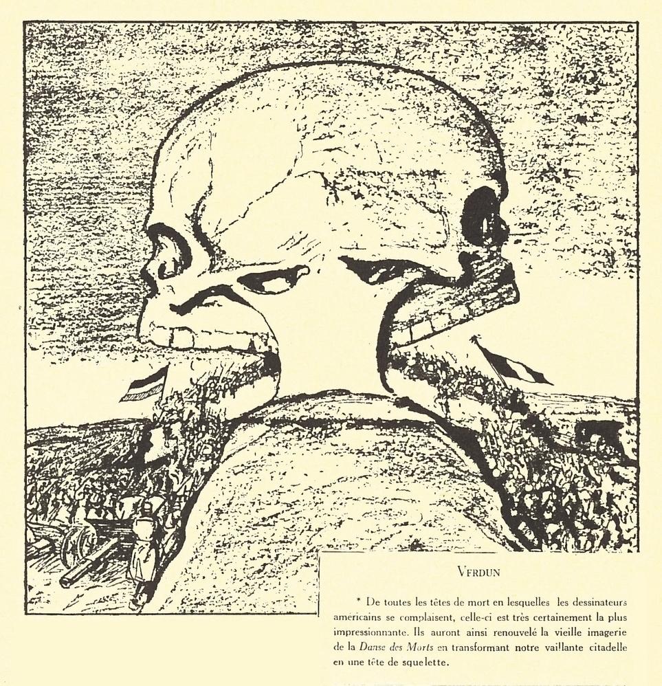 La chair de l'acier - Verdun - Caricature de R. Kirby