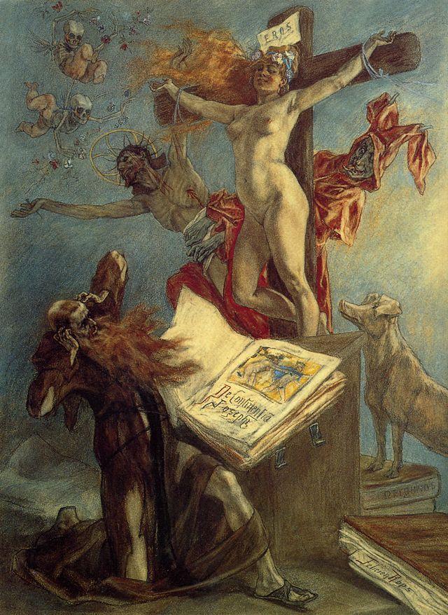 La tentation de Saint-Antoine - Félicien Rops