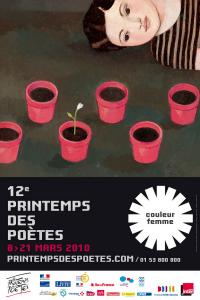 affiche du printemps des poetes- couleur femme