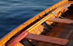 Barque au lac d'Annecy