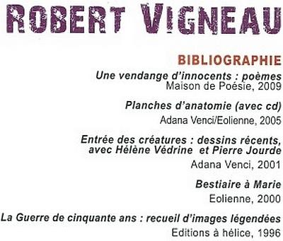 Robert Vigneau - bibliographie