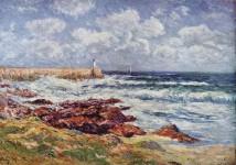 Audierne - Peinture d'henry Moret
