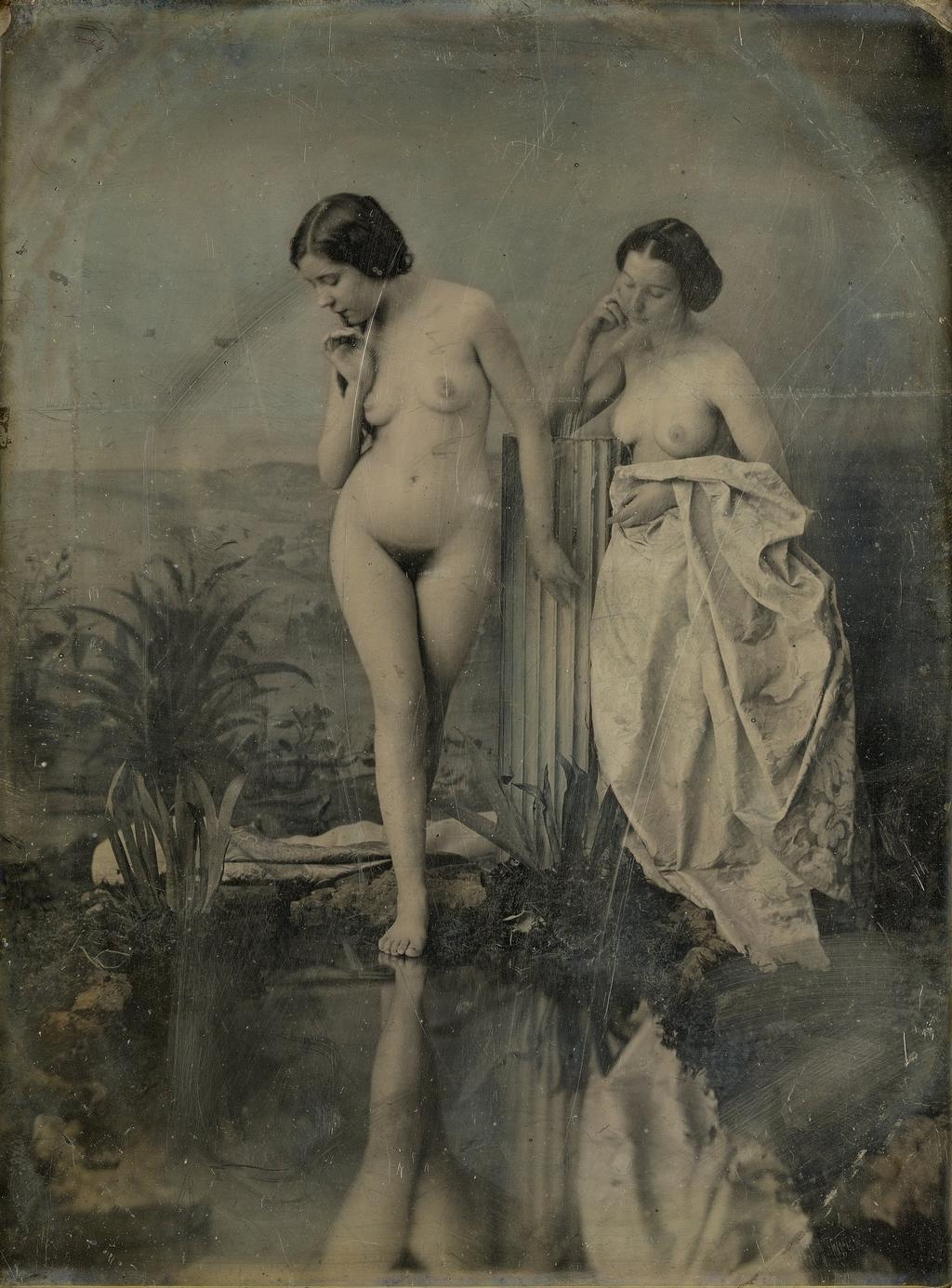Les baigneuses - Felix Jacques Moulin
