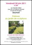 Poèmes au jardin des sculptures - Chemin idéal