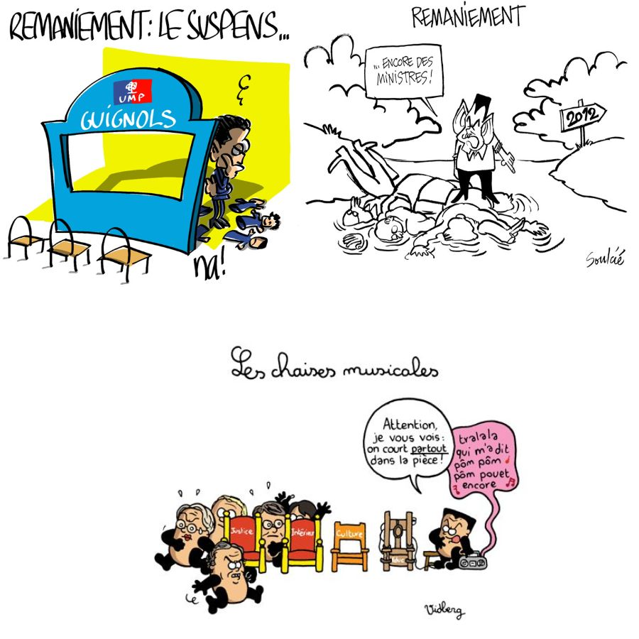 Ministre - Remaniement ministériel - Caricatures
