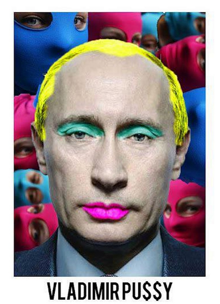 Vladimir pussy - Poutine - caricature