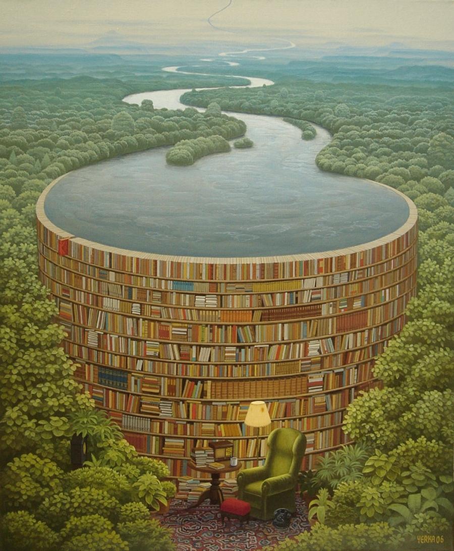 bibliothèque dans la maison des hommes