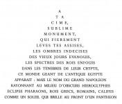La Grande Pyramide - Calligramme