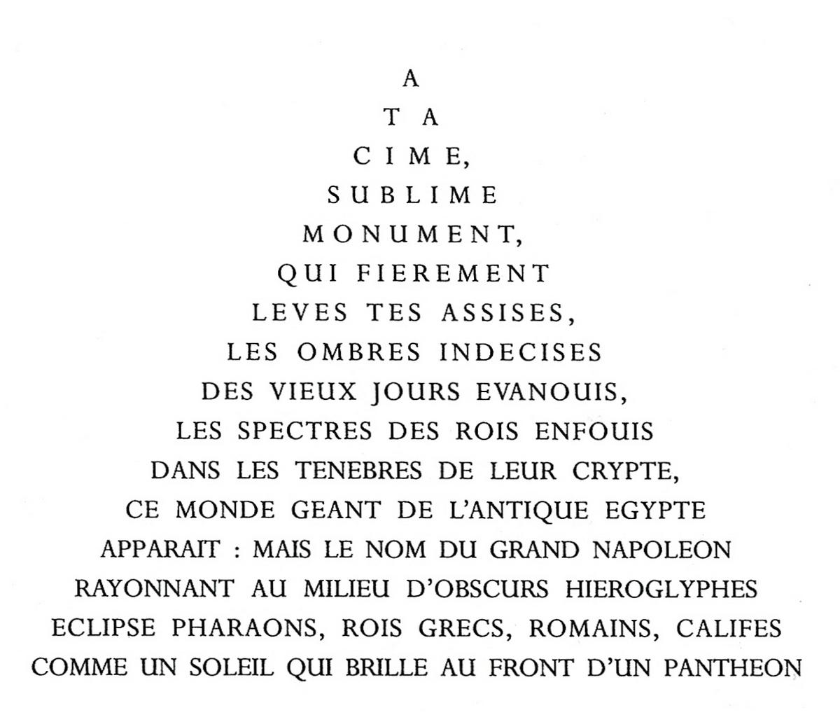 Grande Pyramide - Calligramme