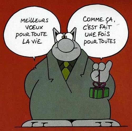 1er janvier 2012 - Les vœux du Chat - Geluck