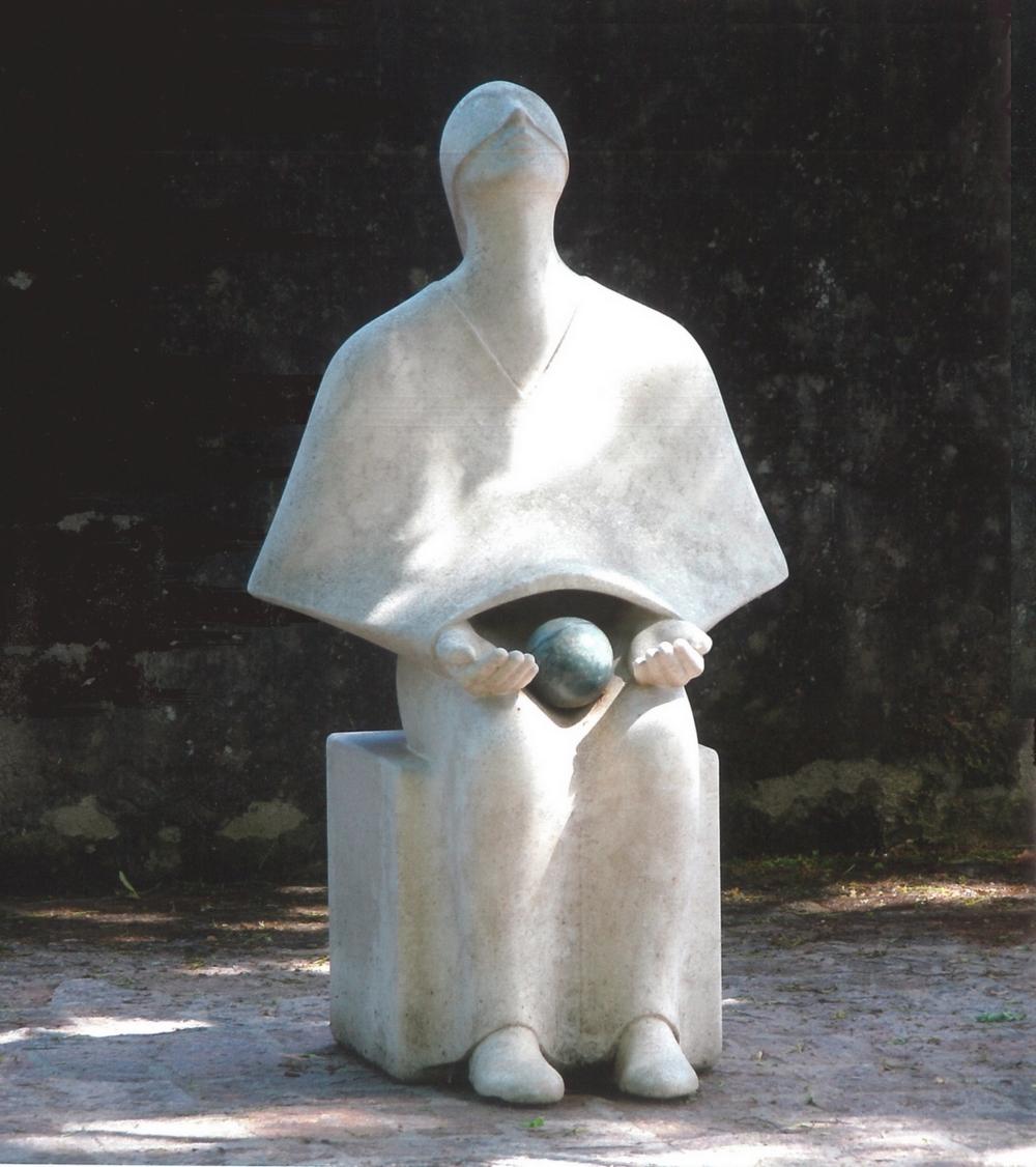 L'astronome - Sculpture de Maurizio D'Agostini