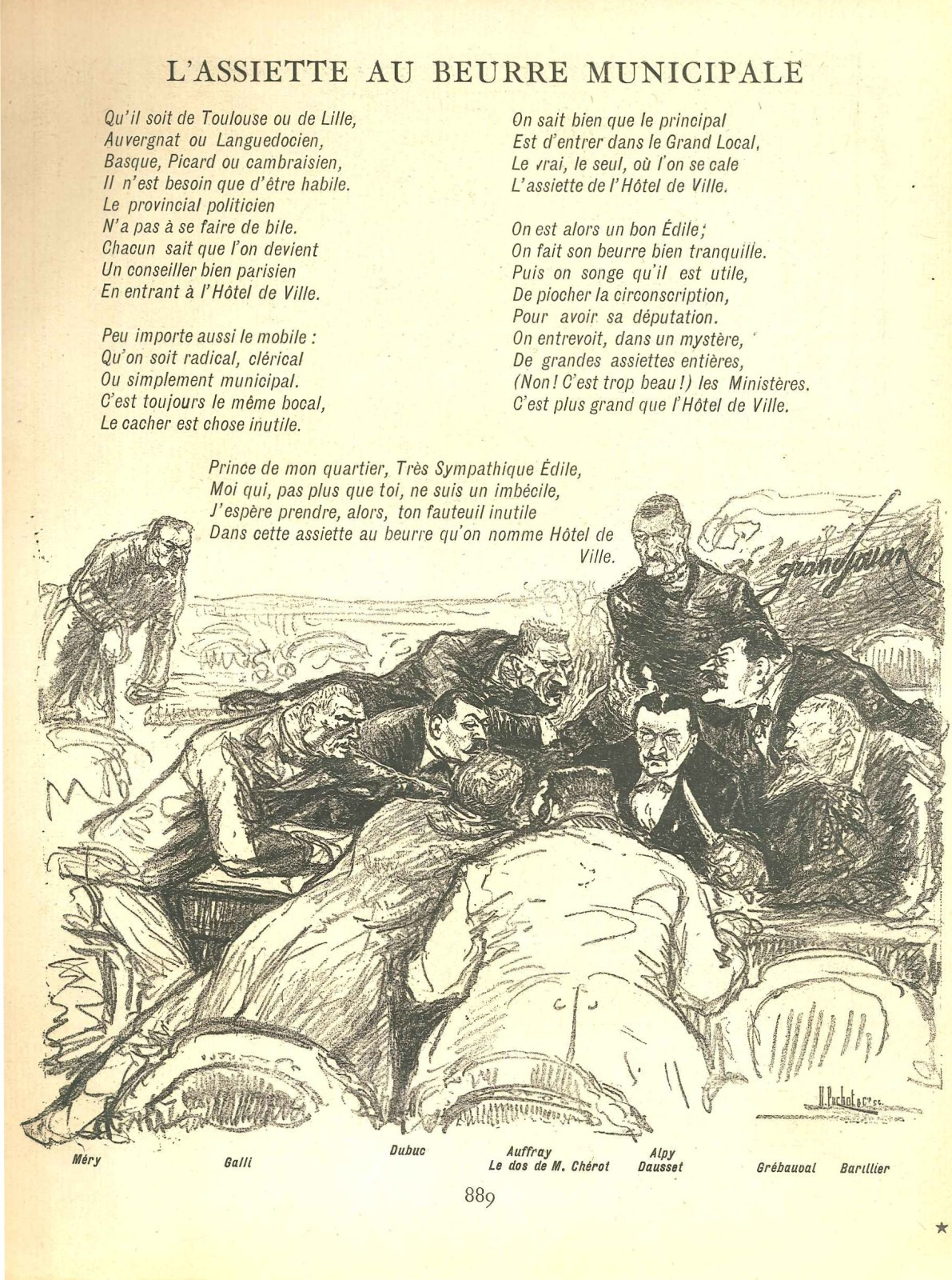 L'assiette au beurre municipale - 1902