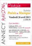 Soirée à la Maison de la poésie d'Annecy