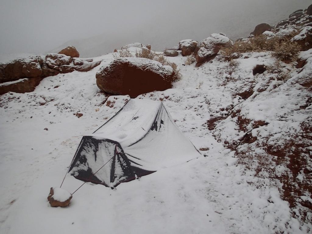 Bivouac en hiver