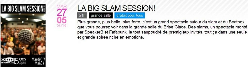 Big slam session à Annecy