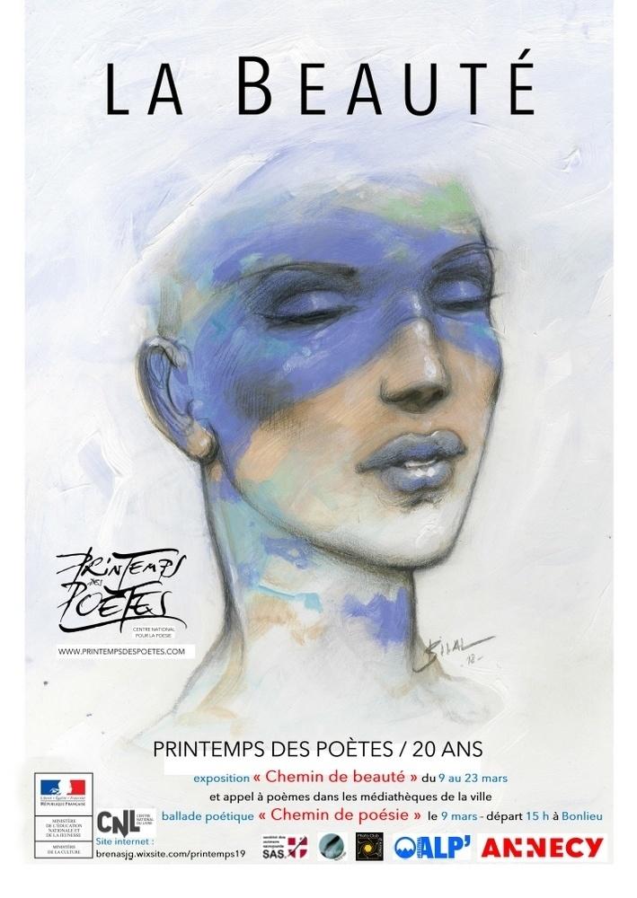 Expo Chemin de la beauté - Printemps des poètes d'Annecy