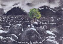 Vision - collage-dessin-poème de Guillaume Riou