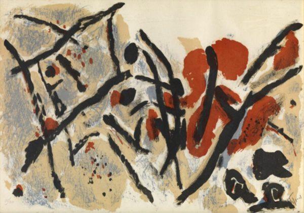 Faille - poème inspiré d'une composition de Tal-Coat