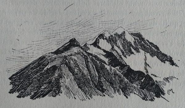 Aurore - Gravure des montagnes