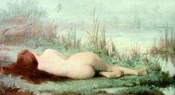 Nymphe au bord de la rivière